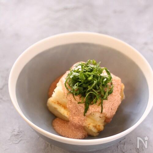 クリームチーズinたらこあんかけの揚げ出し豆腐