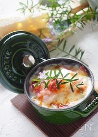 『【ホワイトソースなし】ポテトとベーコンの簡単グラタン♪』
