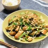 鶏ムネと小松菜のお好みソース炒め*コスパ高でがっつりおかず!