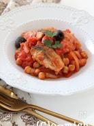 さばとひよこ豆のトマト煮