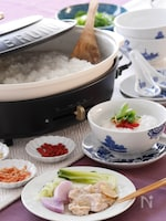 蒸し鶏と野菜のおかゆ