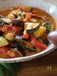 夏野菜の具だくさんのスープカレー