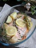 秋鮭とじゃがいものオーブン焼き
