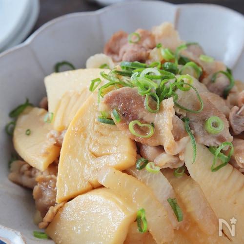 驚く美味さ*豚こま肉とタケノコ・大根のオイスター炒め