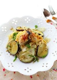 『牡蠣と茄子のペペロンチーノ』