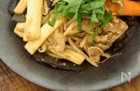 マコモダケとキクラゲと豚肉のにんにく味噌炒め