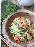 豚こまの甘辛白味噌煮で大根と水菜の豚こまそぼろ和え