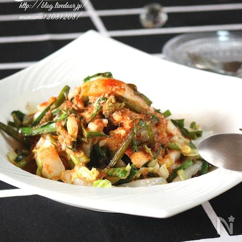 白菜とニンニクの芽のホットサラダ♡