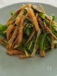 パリパリごぼうとお揚げの水菜サラダ