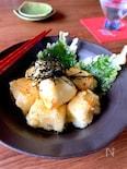 日本酒に【クリームチーズの揚げ出し】おだしの風味をきかせ