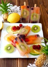 『りんごジュースで簡単!フルーツアイスバー』