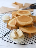 紙袋で焼く、しっとりシュワほわっチーズ蒸しケーキ【型不要】