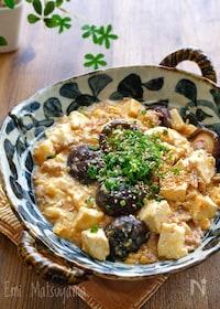 『椎茸麻婆豆腐の卵とじ』