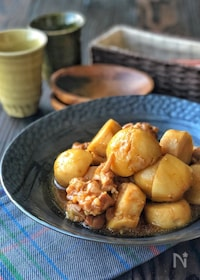 『ほっこりおかず*鶏もも肉と里芋のこっくり煮*』