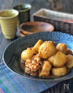 ほっこりおかず*鶏もも肉と里芋のこっくり煮*