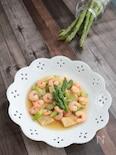 海老とアスパラガスの中華煮