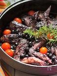 手羽先の豆板醤甘辛ブルーベリーソース煮込