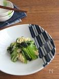 白だしで簡単☆あっさり和総菜◎小松菜と湯葉の煮浸し