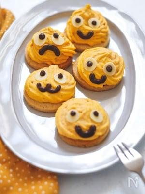 米粉クッキーのかぼちゃモンスター