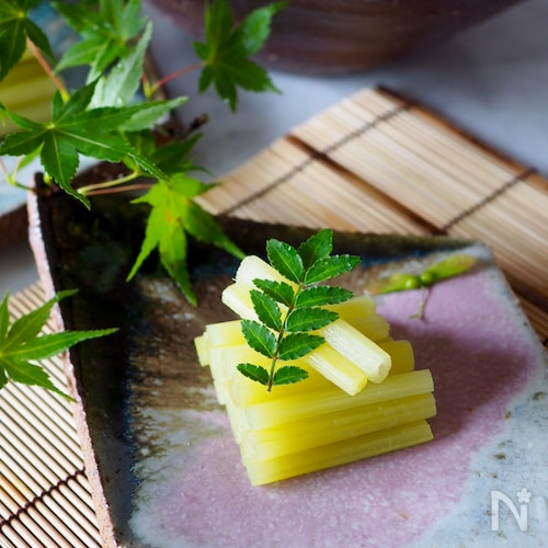 【作り置き】さわやかな緑色*ふきの翡翠煮*