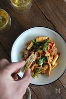 チキンと焼き筍のおかか生姜和え