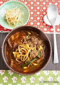 『ユッケジャン(韓国風牛肉のピリ辛スープ)』
