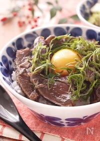 『ツヤ肌カモン!!鰹のたたきの丼ぶり*美味しい漬けダレの黄金比』