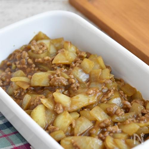 玉ねぎとひき肉のとろみカレー炒め【作り置き】