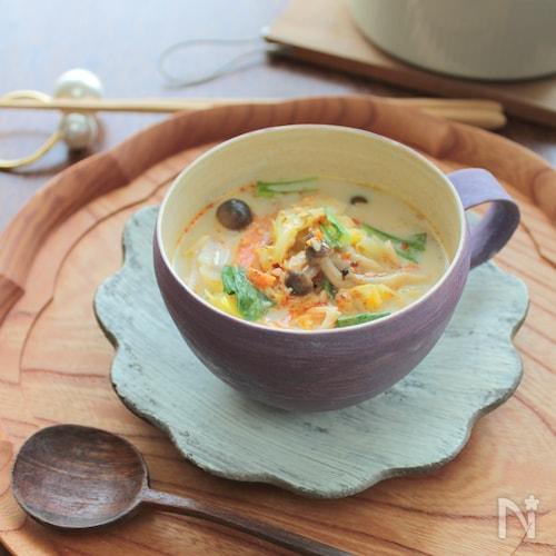 春キャベツのよくばり豆乳クリームスープ§食べるスープ