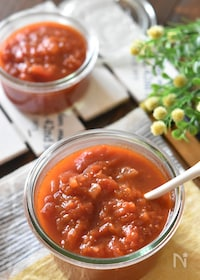 『レンジで簡単♪濃厚トマトソース【冷凍・作り置き】』