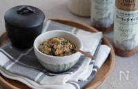 大葉ガーリックオイル肉味噌。