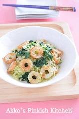 クミン風味ちくわ入り緑の野菜炒め スパイスでカレー風味に♪