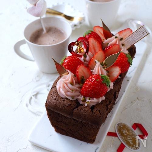 卵と板チョコだけで出来る、チョコパウンドケーキ