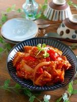 ご飯がもりもり進む♪厚揚げのエビチリ風の炒め物(低コスト)