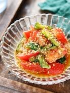トマトとかち割りきゅうりの香味サラダ【#簡単 #節約】
