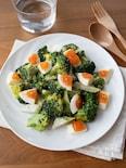 『ブロッコリーとゆで卵の胡麻マヨサラダ』#簡単#お弁当おかず