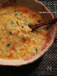 野菜の甘みde風邪ひきさんの卵野菜雑炊