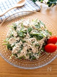 モリモリ食べられる♡サラダほうれん草と豆腐のツナマヨサラダ