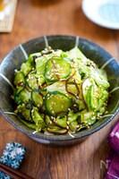 【レタスときゅうりの塩こんぶ和え】定番野菜で和の副菜♡
