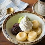 アイスで作る濃厚!バニラ白玉