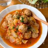 子どもも喜ぶ洋風煮込み*『ミートボールと白菜のトマト煮込み』