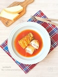 豚肉とチーズのくるくるロール白菜(トマトスープ)