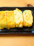 枝豆とチーズの出し巻き卵