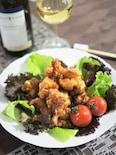 キムチ味の鶏唐揚げ