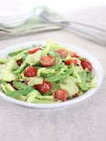 きぬさやとミニトマトのごまサラダ
