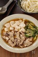 レンジでワンパン!生姜でぽかぽか!豚こまと長ねぎの簡単肉豆腐