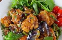【ご飯に乗せたい】鶏もも肉と茄子ピーマンの濃厚ポン酢鶏