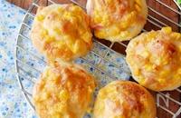 『ホームベーカリーで♡』ハム&コーンマヨチーズパン