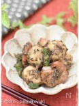 海老と里芋の黒ゴマ味噌和え