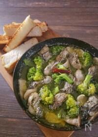 『簡単レシピでお店の味!牡蠣のアヒージョ』